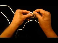 ▶ How to Tie a Hat Blocking Cord - YouTube #millinery #judithm #hats