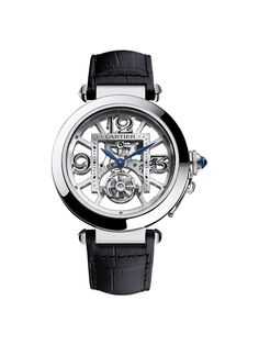 Cartier The Fine Watchmaking Collection, Pasha de Cartier Skeleton Flying Tourbillon Watch. Bulova Watches, Sport Watches, Cool Watches, Cartier Watches, Amazing Watches, Beautiful Watches, Patek Philippe, Men's Accessories, Man Fashion