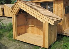 Hearthstone 4' x 8'. Holds 1 cord of firewood. Shown with optional cedar shake shingle roofing. Available as diy plans ($14.95), kit, or fully assembled in the northeast. http://jamaicacottageshop.com/shop/salt-box-wood-bin/ https://s3.amazonaws.com/jamaicacottageshop.com/wp-content/uploads/pdfs/4x8Hearthstone.pdf