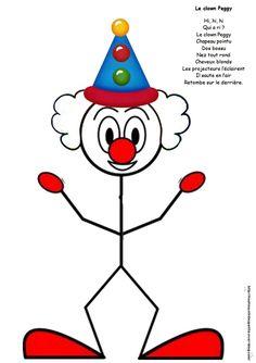 .. Clown Peggy gommette .. - Le blog de nounoucoindespetits Summer Camp Art, Summer Crafts For Kids, Art For Kids, Le Clown, Clown Faces, Kindergarten Crafts, Preschool Crafts, Mardi Gras, Theme Carnaval