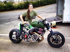 ❤️ Women Riding Motorcycles ❤️ Girls on Bikes ❤️ Biker Babes ❤️ Lady Riders ❤️ Girls who ride rock ❤️ TinkerTailorCo ❤️ Lady Biker, Biker Girl, Ducati Monster, Women Riding Motorcycles, Chicks On Bikes, Cafe Racer Girl, Chopper Bike, Hot Bikes, Biker Chick