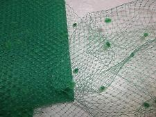 Green Birdcage Veil Millinery Russian Veiling Netting Chenille By the Yard $12