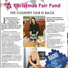 Nadia van der Mescht interviewed on Radio Life & Style for the Christmas Fair Fund which will take place at Collisheen Estate in Ballito, Kwazulu Natal.