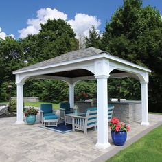 How Does Pergola Provide Shade Key: 1500984114 Backyard Pavilion, Backyard Gazebo, Backyard Patio Designs, Backyard Landscaping, Outdoor Pavilion, Deck Pergola, Building A Pergola, Pergola Plans, Pergola Kits
