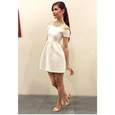 Janella Salvador simple white dress