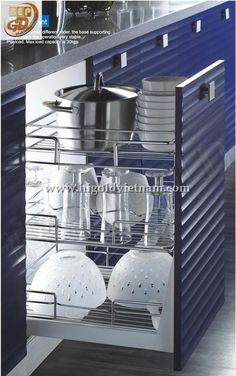 Kệ dụng cụ ba ngăn tủ bếp Higold - 305021