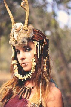 The Bohemian Collective: Earth Medicine // Headdress by @Gypsies Caravan Art and Photography