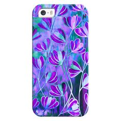 EFFLORESCENCE Lavender Purple Blue Colorful Girly Floral Nature... (520 ARS) ❤ liked on Polyvore featuring accessories, tech accessories, iphone case, iphone cover case, apple iphone cases, flower iphone case, purple iphone case and floral iphone case