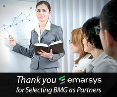 Thank you eMarsys for Selecting BMG as Partners