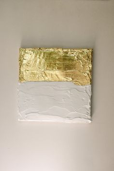 Modern contemporary gold white painting on canvas by VanDunDesign, €25.00