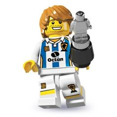 I have this one.LEGO Minifigures - Soccer Player - Swapped the head with a female one for my daughter.