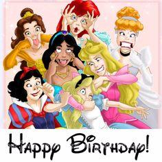 Disney Princess Birthday Meme