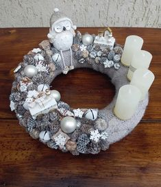 Ornament Wreath, Ornaments, Burlap Wreath, Hanukkah, Christmas Decorations, Wreaths, Home Decor, Decoration Home, Door Wreaths