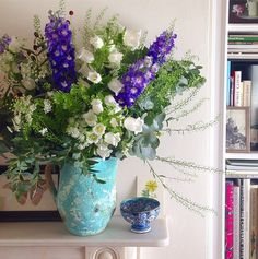 """""""The perfect bouquet of flowers by Scarlet and Violet. Whimsical, colourful, arranged as though they had just been picked on a country walk."""