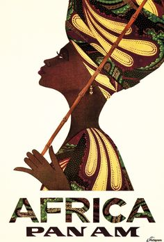 Pan Am Africa , VINTAGE POSTER ,