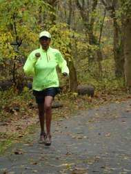 70 year old Maryland grandmother training for a 48 hour ultra marathon.  Awesome.