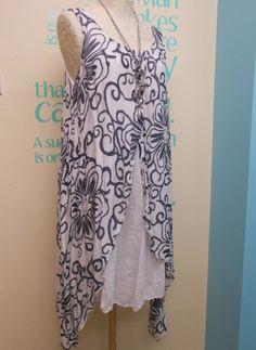 LAGENLOOK ETHNIC SWIRL PRINT LAYERING TUNIC DRESS FITS SIZES 12-18 | eBay