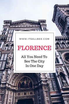 Weekend / One Day Guide: Florence, Italy