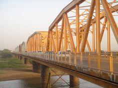 Bridge over Blue Nile River, Khartoum, Sudan