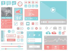 A Collection of Free Flat UI Icons & Web Design Elements - StarSunflower Studio