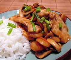 Teriyaki Chicken Stir Fry~ I substituted sesame oil for the canola oil and added minced garlic to saute and used a different veggie mix (frozen... so easy)