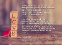 Paulo Coelho cytat na temat miłości