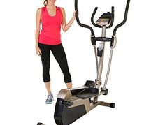 Exerpeutic 5000 Magnetic Elliptical Trainer with Double Transmission Drive/Bluetooth Technology/Mobile Application Tracking | Ellipticals For Cardio