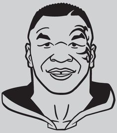 Glossy vinyl has strong adhesive for indoor and outdoor use. Don King not included. Mike Tyson Tattoo, Mike Tyson Mysteries, Coloring Books, Coloring Pages, Boxing Posters, Cartoon Painting, Black Artwork, Silhouette Cameo Projects, Naruto Characters