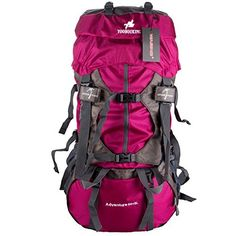 WASING Internal Frame Backpack Hiking Backpacking Packs for Outdoor Hiking Travel Climbing Camping Mountaineering with Rain Cover ** Details can be found by clicking on the image. (This is an affiliate link and I receive a commission for the sales) Best Camping Backpack, Best Carry On Backpack, Best Hiking Backpacks, Cool Backpacks, Colorful Backpacks, Backpacking Gear, Hiking Gear, Camping Gear, Internal Frame Backpack