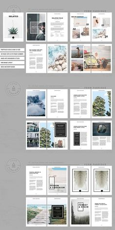InDesign Portfolio Broschüre – Vol. Crea Design, Graphisches Design, Book Design, Design Model, Flyer Design, Portfolio Graphic Design, Graphic Design Layouts, Editorial Layout, Editorial Design