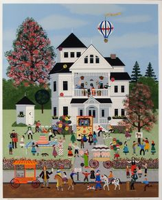 Birthday Mayhem by Jane Wooster Scott. We bought this lithograph more than 20 years ago. Still love it today.