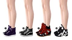 """spectacledchic: """"Spectacledchic's shoes collection part 2: Flats & Sneakers 1) Hipster Flats by MF Sims 2) Slip-on Shoes by POsims 3) Spike Loafer by Icia23 4) Suede gladiator sandals by Gosik 5)..."""