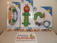Hungry-Caterpillar-Baby-Newborn-Nursery-Sensory-Rattle-Teether-Gift-Present-NEW