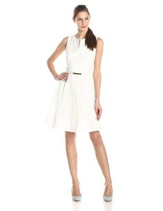 8b1f973e1e Calvin Klein Women s Geo Eyelet Dress