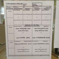 Viernes chohuahua open #abiertochih order of play #canaldetenismx