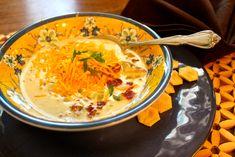 Pressure Cooker Potato Soup ~ Delicious homemade potato soup in a flash!