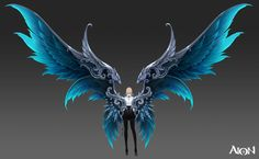 Land of Battle - Level 80 AP Series Concept Art Concept artwork of the level 80 AP weapons, armour and wings. Anime Weapons, Fantasy Weapons, Fantasy Creatures, Mythical Creatures, Wings Drawing, Weapon Concept Art, Wings Design, Anime Outfits, Fantasy Characters