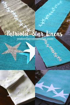DIY Patriotic Star Linens | Plutonium™ Paint x Yesterday On Tuesday ---> #DIY #Crafty #SprayPaint #UltraSupreme #MadeInTheUSA