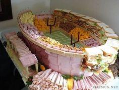 OMG!  Super Bowl Food Stadiums ... I think I am crazy enough to do this!