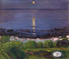 """Sommernacht am Strand"" by Edvard Munch, 1892. (Summer night at the beach)"