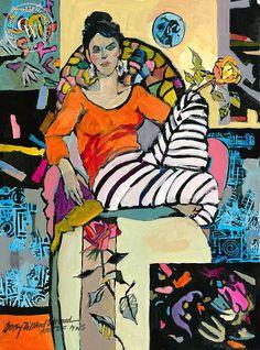 Betsy Dillard Stroud - Delilah Thinking of Matisse