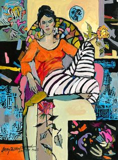 Betsy Dillard Stroud - Delilah Thinking of Matisse                                                                                                                                                                                 Plus