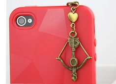 35mm Retro Bronze Bow And Arrow Dustproof Plug  for by fashioncase, $3.99