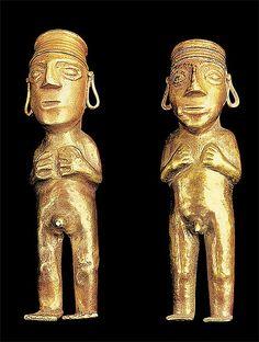 La metalurgia en el Imperio Incaico estuvo influenciada por la cultura Chimú, como podemos ver en esta imagen. Los mejores orfebres eran trasladados a la ciudad del Cuzco, ahí nació la metalurgia Chimú-Inca.