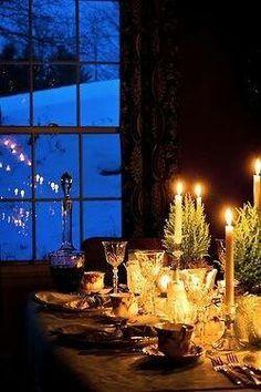 cozy winter dinner