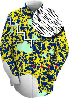 LEOPARD CLASS Work Shirt by MAD DINGO on Print All Over me. #paomworkshirt #paom80s