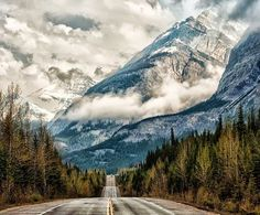 Milky Way Scientists - Google+ - Road to the Clouds Banff National Park, Canada Copyright…