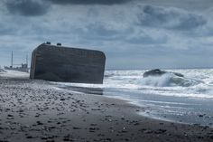 Storm at Lild beach Denmark