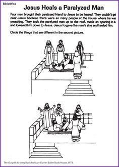 Jezus geneest een verlamde Man