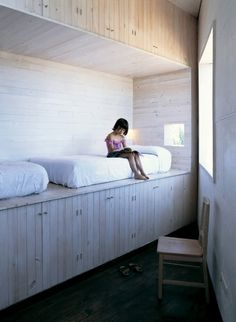Cabin bedroom! (Fosc House / Pezo von Ellrichshausen Architects)
